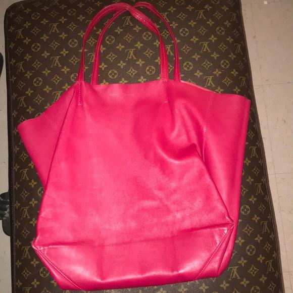Celine Bags   Vertical Cabas Tote In Magenta   Poshmark 5840c36847